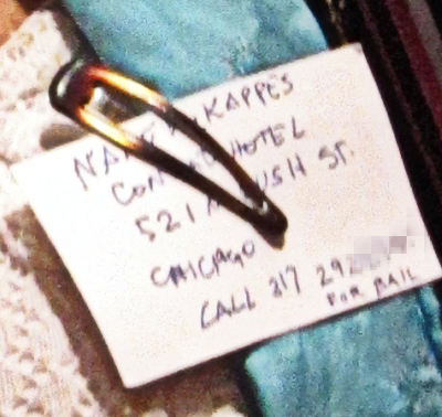 Phone number pixelated to protect both Nancy and those who would contact her.