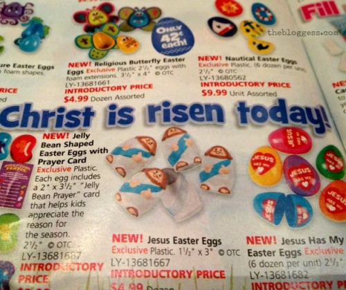 "Also, I just noticed that the thing on the bottom right says ""Jesus Has My Easter Eggs.""  Not cool, Jesus."
