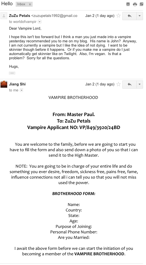 UPDATED: I'm gonna be a vampire  Maybe  | The Bloggess