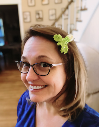 jenny with leek barrette